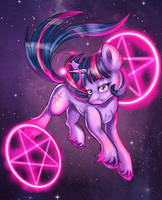 Twilight Sparkle (available as a T-shirt) by Ilynalta