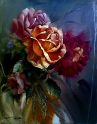 flower..oil painting by memo-80