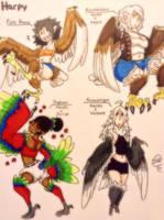 Harpy Variants  by BangBooDoragon