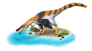 Austroraptor Fishing  by BangBooDoragon