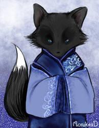 Black fox by MonikaxD