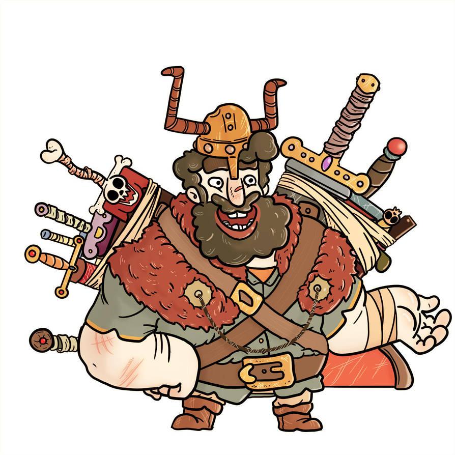 Happy Weapon Salesman by GarlicHERO