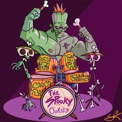 The monster on Drums by GarlicHERO