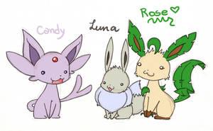 Candy, Luna and Rose by Kikulina