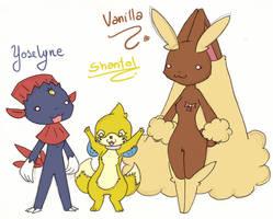 Yoselyne, Shantal and Vanilla by Kikulina