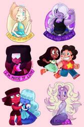 Steven Universe Stickers by Kikulina