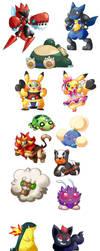 Bunch of Random Pokemon 2 by Kikulina