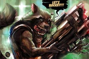 Rocket Raccoon WoW by jorcerca
