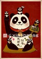 Maneki Panda by xiaobaosg