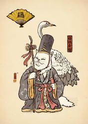 Fukurokuju cat by xiaobaosg
