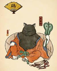 Cat061- Hotei Cat by xiaobaosg