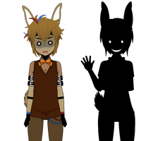 SpringTrap (Golden Bonnie) and Shadow Bonnie by XxChellie-DawgxX