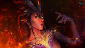 MAKEUP -  Overwatch [SYMMETRA Dragon Skin] by AliceYuric