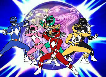 Mighty Morphin Power Rangers (Catoon) by cam-and-sister-paint