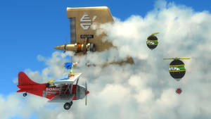Sonic Sky Chase Zone by exojamesm