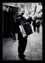 Venetian Accordionist by starheart