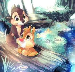 Chip and Dale by Umintsu
