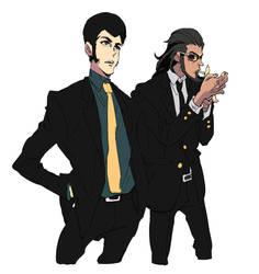 Lupin and Jigen by Umintsu