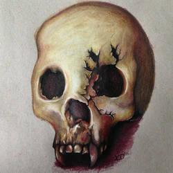 Vampire Skull by kingisen83