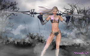 Aelysia - Elven Blade Maiden by Vaizaado