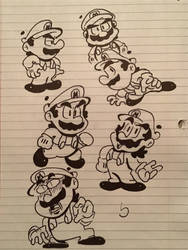 If Mario had a manga series (doodles) by Tmii0599
