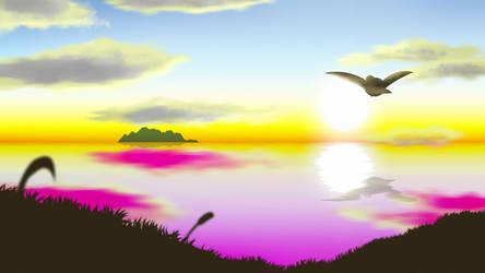 Sunset Island by debeerguy007