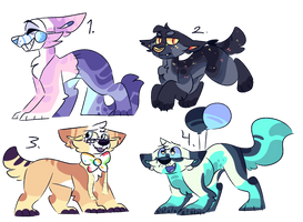Set price doggos | CLOSED by Kiwivulpes