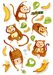 Small cute monkey by wantou