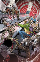Fanboys Vs. Zombies 01::Cover by KharyRandolph