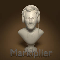 Markiplier Bust by cshep99