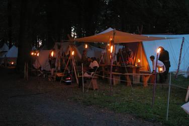 Viking Camp at Night by Benthor