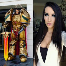 In and out of cosplay warhammer40k cosplay by Beaupeep101