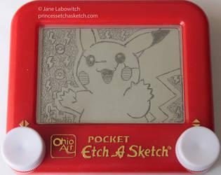 Pikachu etch a sketch by pikajane