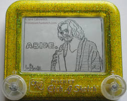 The dude on an etch a sketch by pikajane
