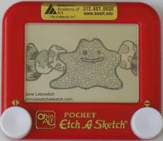 Ditto etch a sketch by pikajane