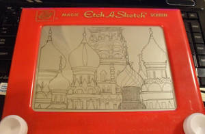 WIP- St. Basil's Cathedral etch a sketch by pikajane