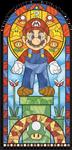 Mario stained glass window by pikajane