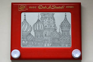 St. Basil's Cathedral etch a sketch by pikajane