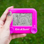 Pink doodle Etch A Sketch by pikajane