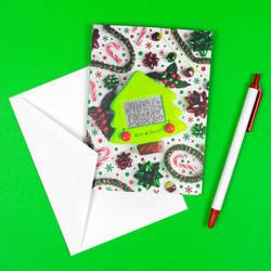Christmas Card Etch A Sketch by pikajane