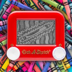 Crayon Etch A Sketch by pikajane