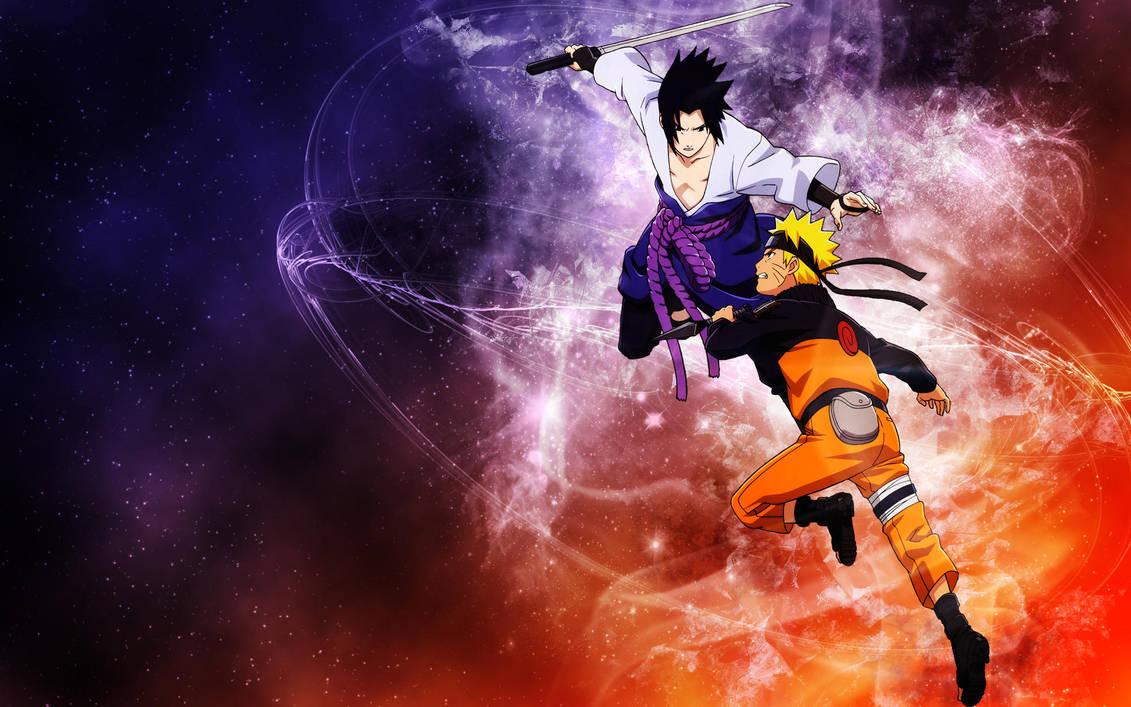 Naruto And Sasuke Wallpaper By Sanaia Art On Deviantart