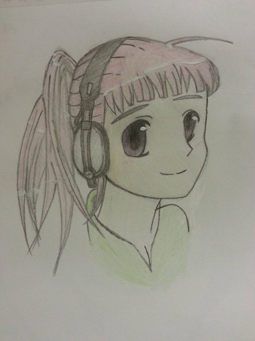 Girl With Headphones by lovemusicsoul1213