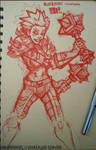 redwork- Nineknives - maces by mr187