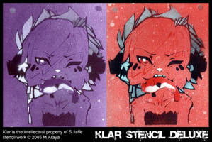 stencil work - KLAR DELUXE by mr187