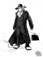 PNT - Undertaker Fox - ink by Shinjuchan