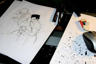 DBZ - Inking Passion 2 by Shinjuchan
