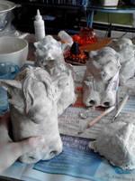 Paper mache Halloween projects 6 by Shinjuchan