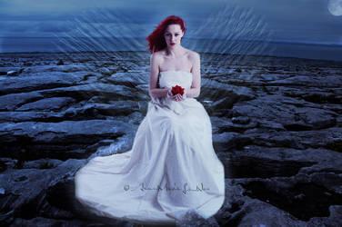 Angel with rose by Ana-Marija98