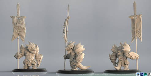 Lagartian Heavy Warrior - Flag Bearer Sculpt by PioPauloSantana